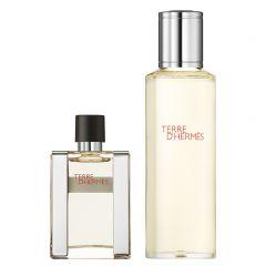 Hermès Terre d'Hermès 133 Gr Navulbare eau de toilette 30 ml en zijn navulling van 125 ml