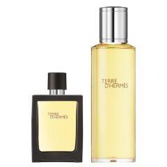 Hermès Terre d'Hermès Eau Intense Vétiver 30 ml eau de parfum spray + 125 ml eau de parfum flacon navulling