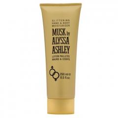 Musk by Alyssa Ashley glittering hand & bodylotion